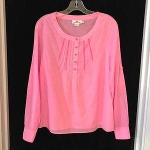 Vineyard Vines Pink Cotton Tunic Shirt Ric Rac M